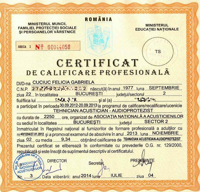 Certificat Cuciuc Felicia Gabriela