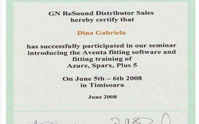 Certificat Dina Gabriela