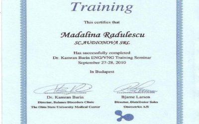 Certificat Madalina Radulescu