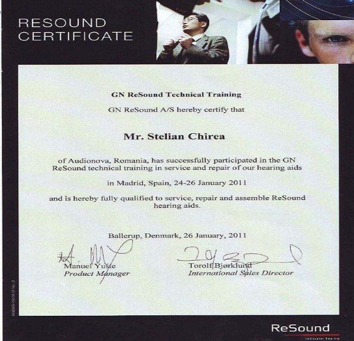 Certificat Stelian Chirea