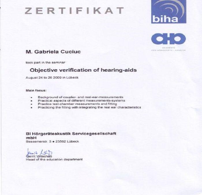 Certificat Gabriela Cuciuc
